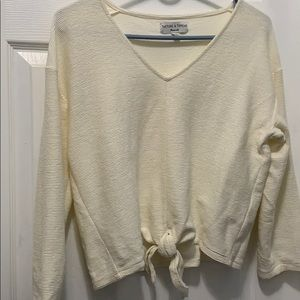 Madewell Texture and Thread Tie Front Top